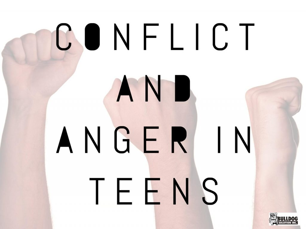 Tips on how to manage conflict and anger in teens by Bulldog Solution in Chicago, IL